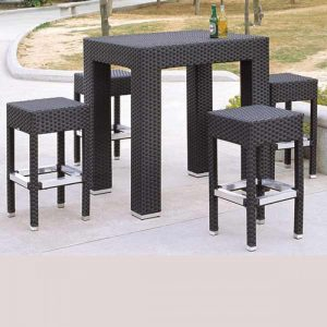 wicker bar set for commercial use
