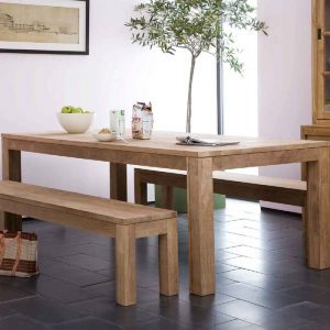 minimalist teak dining table