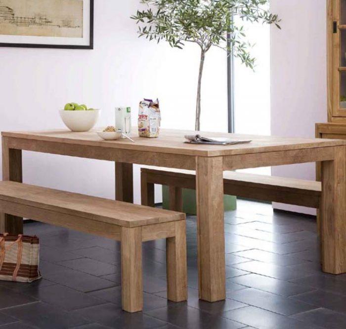 minimalist teak dining table