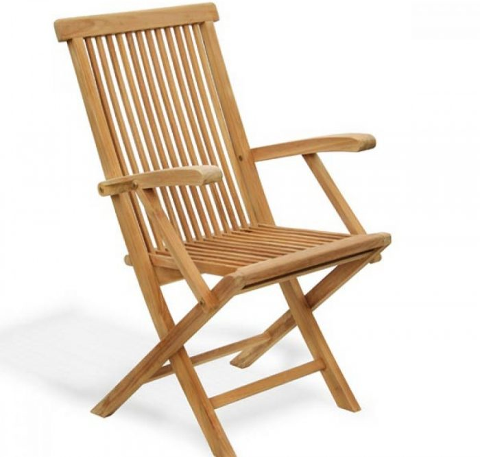 teak outdoor folding chair