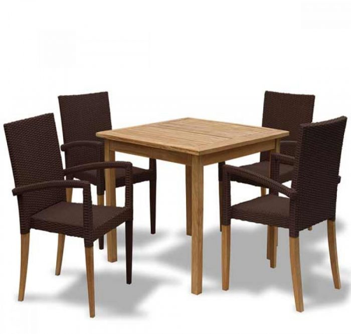 square teak outdoor table kl