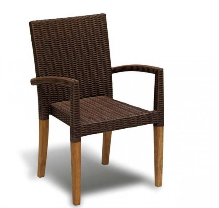 wicker stacking chair