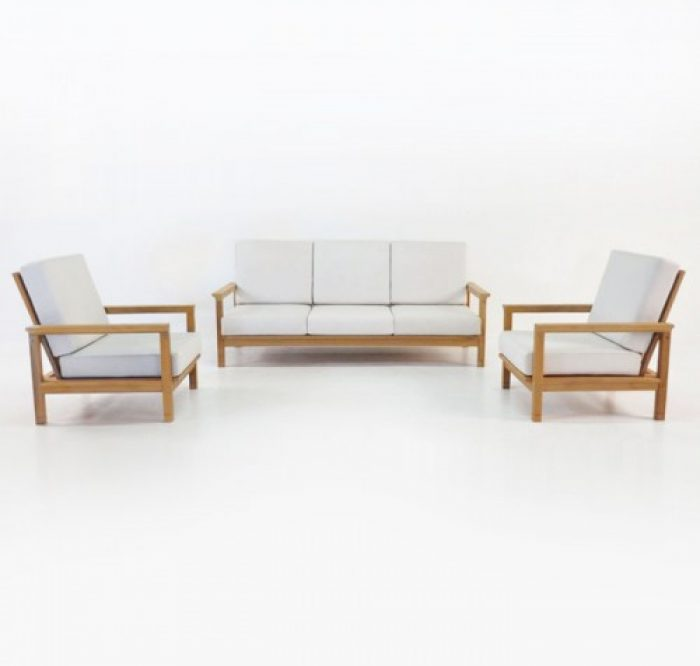 contemporary teak sofa set