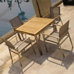 stainless steel dining set