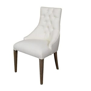 buttoned back dining chair