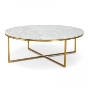 rena marble top coffee table