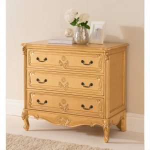 Gold leaf antique french style chest
