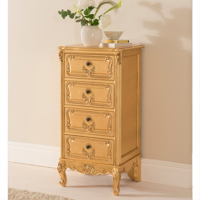 Gold leaf antique french style Tollboy chest