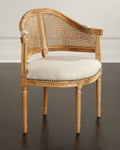 cane corner chair.