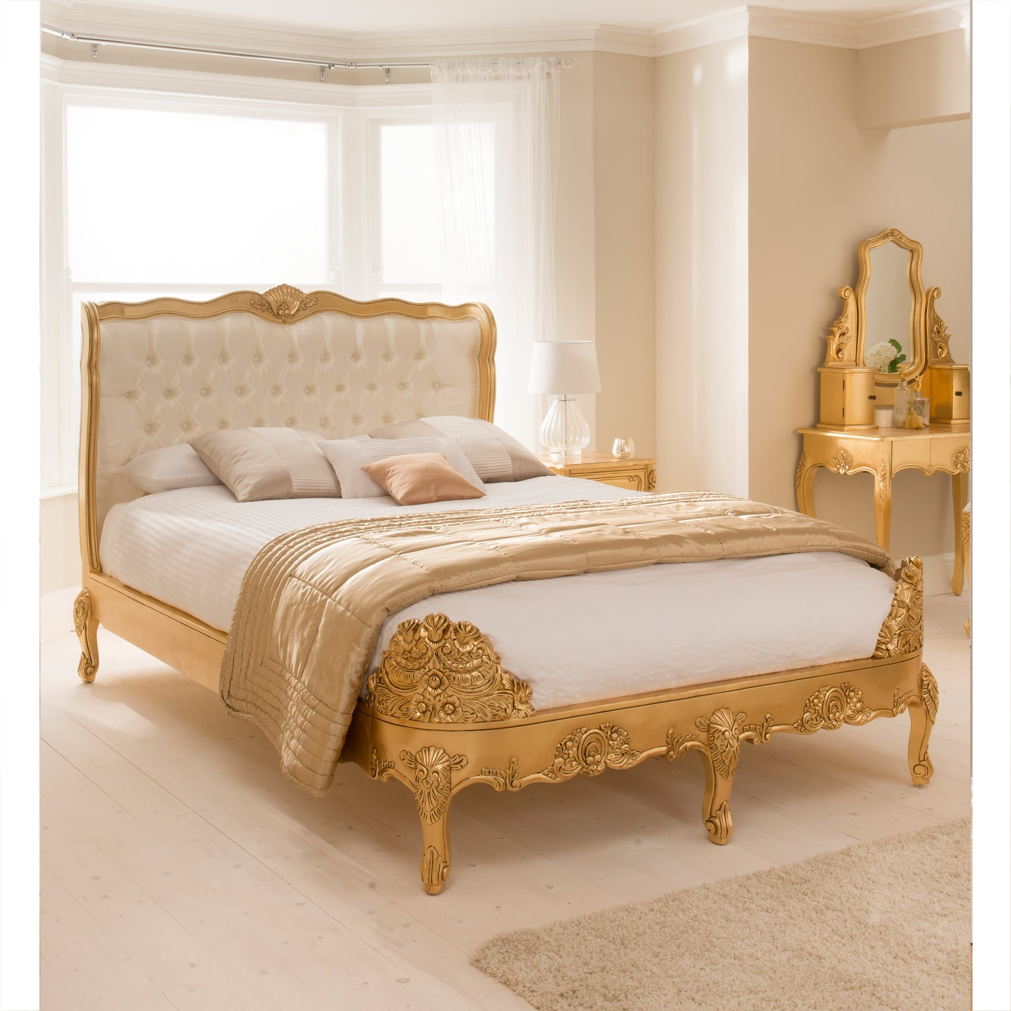 Gold Leaf Antique French Style Bed Online Furniture Store Kl Malaysia