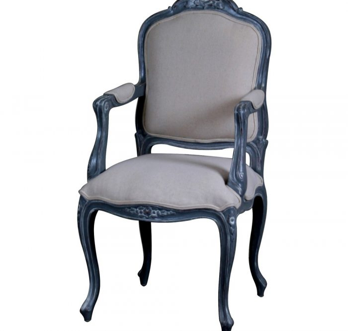 French Upholstered Carver