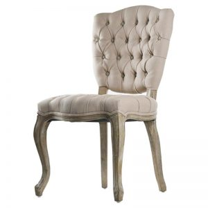 French Country Tufted Dining Chair