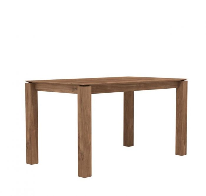 slice teak dining table