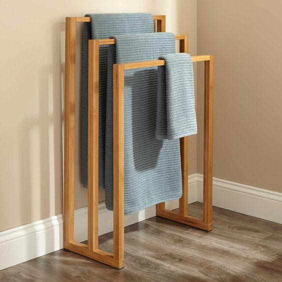 Teak Towel Rack