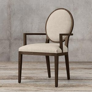 oval arm chair