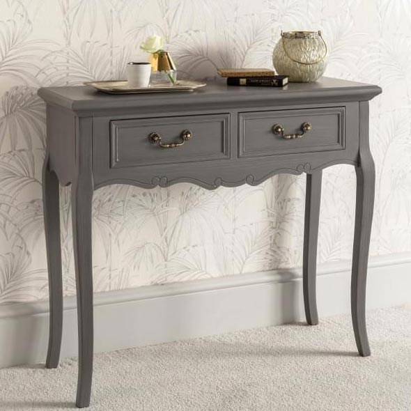 2 Drawer Antique French Style Console Table