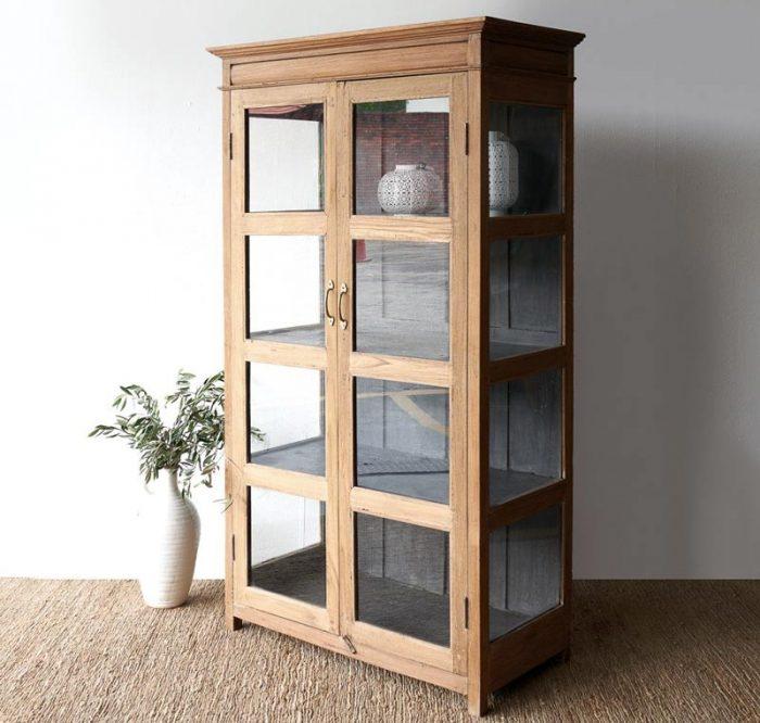 Teak Display Cabinet Recycle, Glass Display Cabinet Malaysia
